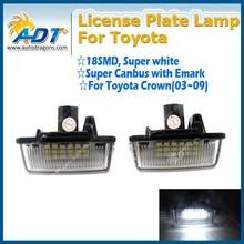 Super white e-mark led license plate light for Toyota for Crown