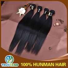 Wholesale top quality nature color 100% virgin brazilian straight hair extension