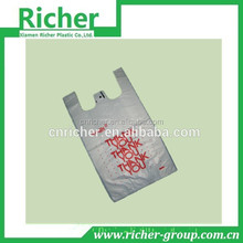 Disposable HDPE/LDPE plastic Market Thank You T-shirt bag