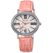 SKONE women's butterfly watches with shining diamond in bezel