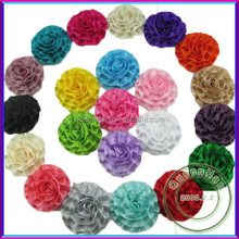 In Stock Boutique Fabric Flowers Fabric Flowers For Dresses,Assortment Fluffy Ruffled Flowers For Kids Hair Accessories