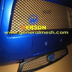 car racing grills,front radiator ventilation grille cover,silver and powder coated