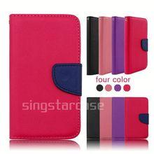 china wholesale phone cover leather flip case for nokia lumia 710