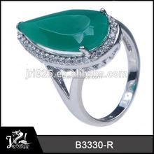 Handmade Arabic diamond ocean inspired engagement ring