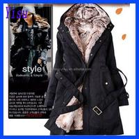 2015 european clothing Female fashion fine cotton women's warm winter fur coat factory S-3XL cloth