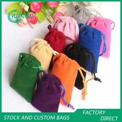 Stock and Custom Velvet Drawstring Pouch/Bag Small Size