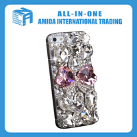 bowknot rhinestone decoration cell phone cases with neck rope