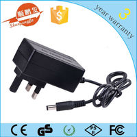 Mount-wall type DC12v 2a power adaptor UK/EU/AU/US plug with 1m DC cable