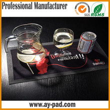 AY Black Washable Bar Decoration Rubber Exercise Mat Natural Rubber Bar Mat For Bar Counter