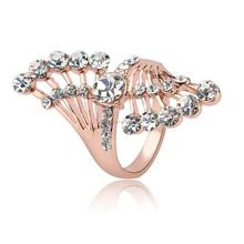 Newest wholesale fashion diamonds Wing shape rings