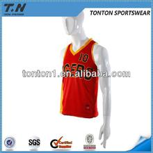 New style cheap polyester adult printed basketball wear