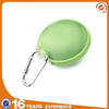 Light Green Earphone handsfree headset HARD EVA Case with Inner Pocket and Durable Exterior Silver Climbing Carabiner