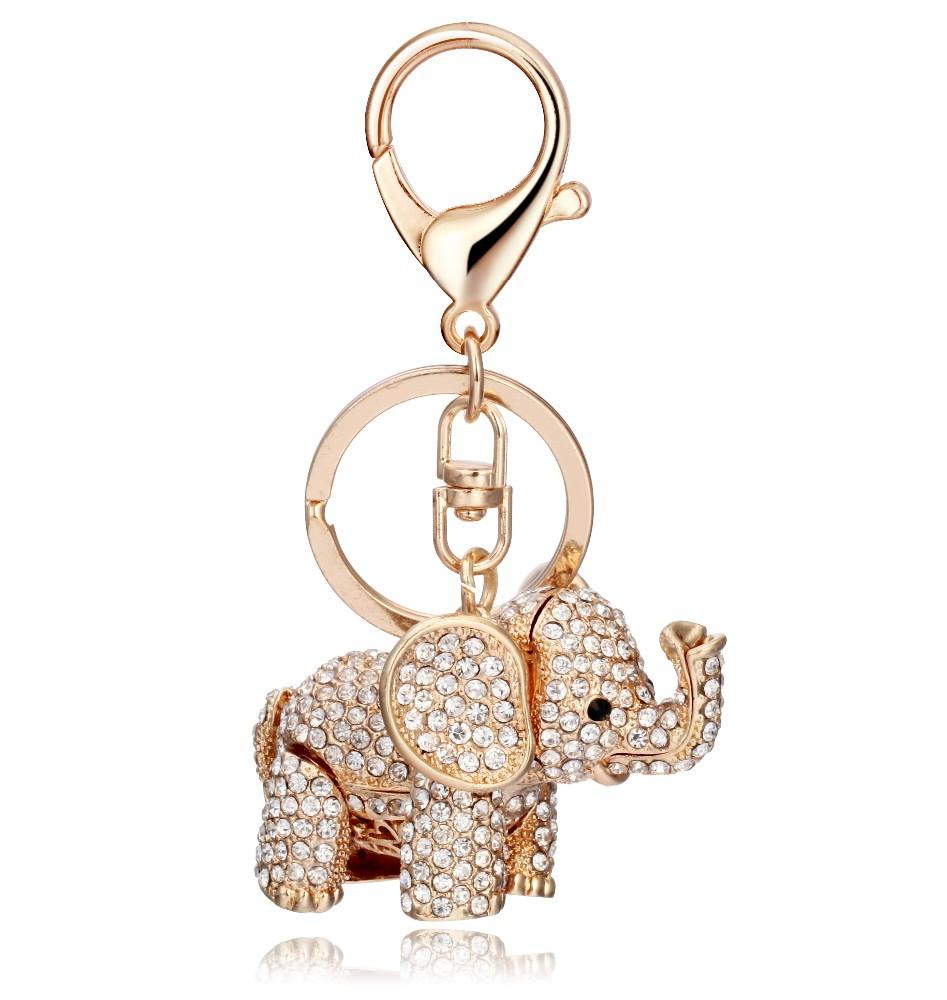 wholesale custom metal material rhinestone cute elephant animal keychain. Black Bedroom Furniture Sets. Home Design Ideas