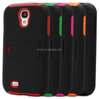 Dual Layer Ultra Slim Fit Hybrid Protective Skin Case Cover With Kickstand For Samsung Galaxy S4