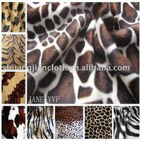100% polyester printed velboa/velboa fabric