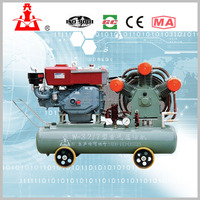 Mining diesel engine portable piston Air Compressor W3.2-7 for sale