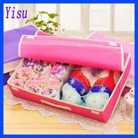 2 in 1 Underwear Bra Socks Ties Divider Closet Container 15 8 10 Grids Storage Box Organizer