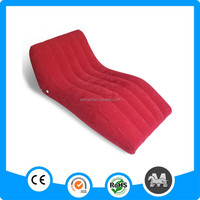 S-shaped self inflating pvc inflatable reclining chair