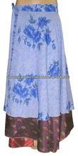 ropa formal último diseño seda envuelven falda