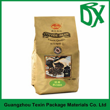 Plastic material guangzhou manufacturer accept custom order heat seal moisture proof coffee bags gusset with printing