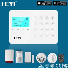2015 Hottest GSM LCD wireless home alarm system wireless pstn home gsm alarm/ wireless sim card burglar alarm system