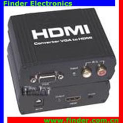 VGA to HDMI converter VGA video RCA audio,vag input hdmi output