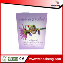 Custom High End Paper Trading Greeting Cards