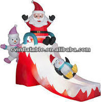 inflatable christmas slide/inflatable christmas decoration as inflatable toy