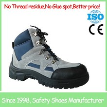 SF6870 Grey high cut cow suede leather steel toe sport safety shoes low price