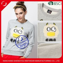 Made in China 100 Cotton Custom Womens Pullover Plain Sweatshirt