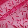 nylon flocked organza fabric for decoration garment