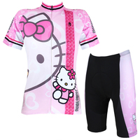 wholesale women cycling wear jersey+shorts short sleeve bicycle sets bike clothes ILPaladino #DT-022