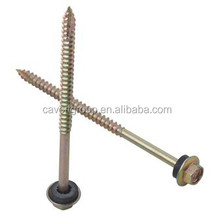 Hex Flange Head Wood Screw Type 17 Point with Rubber Washer/screws for wood