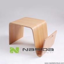 tl166 réplica de madera doblada color natural pequeña mesa de té