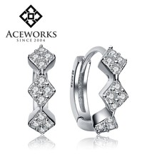 2015 Latest Fashion Square 925 Sterling Silver Earring