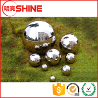 Chinese steel ball manufacturer mirror finished large hollow garden stainless steel sphere