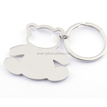 metal blank keychain for teddy bear