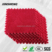 Plush eva floor mat for kids indoor playground