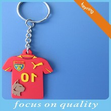 basketball football soccer club 3d rubber embossed jersey keychain