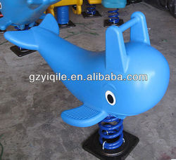 Good Quality Outdoor Spring Rocking Horse in Dolphin design