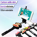 Dibujos animados selfie stick, cable pole selfie stick, monopie selfie stick disponible en stock