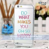 High quality Colorful translucence soft tpu bumper case for phone 6 plus 6S clear case