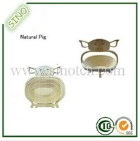 Natural Pig Shape Bamboo Fruit And Vegetable Basket