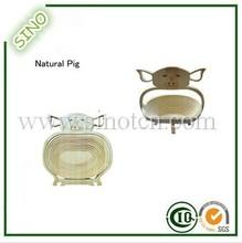 Natural Pig Shape Bamboo Fruit And Vegetable Basket