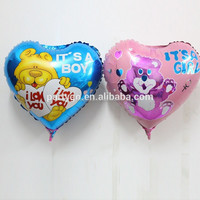 Wholesale printed balloons heart shape foil balloon for kids birthday