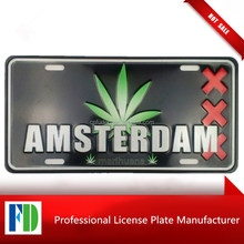 custom metal, amsterdam honda license plate