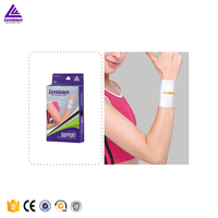 Factory Wholesale Lenwave Cotton silver color Wrist brace Comfortable Elastic Wrist support wraps