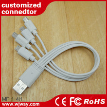 Multi Wholesales 4 in 1 Usb Cable Data Charger Cable 8 pin 30 pin Plug Universal Usb Cable