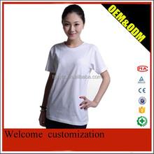 T-shirt de algodão puro branco camisa workwear