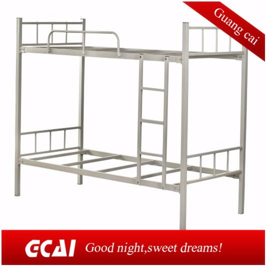 Metal frame dormitory 2 people bed cheap design bunk bed for Metal bunk beds for sale cheap